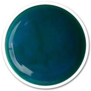 Gel UV couleur bleu canard métal