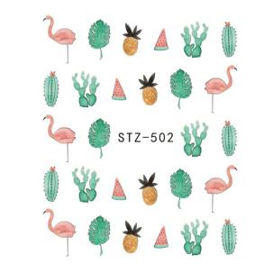 flamants rose et des cactus