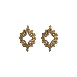 2 bijoux pour pierre liquide nail art-doré