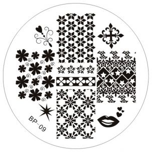 Plaque Stamping hivernal -Bp 09