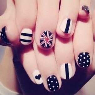 Stiletto nail art peche melba