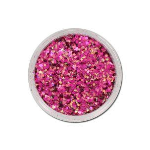 Mix paillettes cosmétique rose