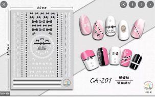 Stickers nail art noeuds