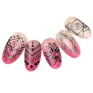 Plaque Stamping nail art design