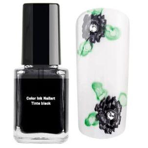 encre nail art noire