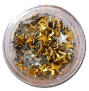 Strass metal doré et argenté 3mm environ 100 pieces