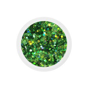Dots nail art grosses paillettes, manucure ongles gel UV french-lh10_vert_JCS06