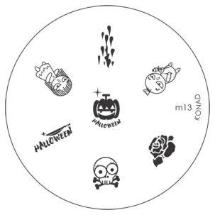 KONAD plaque M13 thème halloween