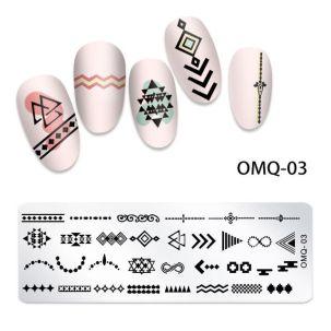 Plaque stamping D16 nail art maya