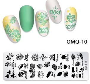 Plaque Stamping nail art spb28