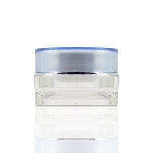 Pot vide bleu 15 ml double paroi pour conserver le gel UV ou la résine
