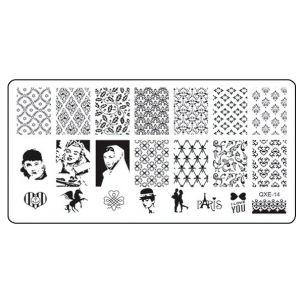 Plaque Stamping celebrités -QXE14