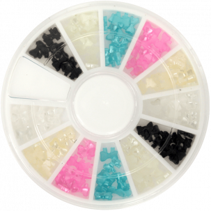 noeud couleurs pour ongles