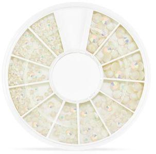 roue de strass blanc opale