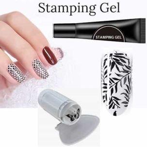stamping gel noir