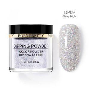 Dip powder & Résine silver shimmer