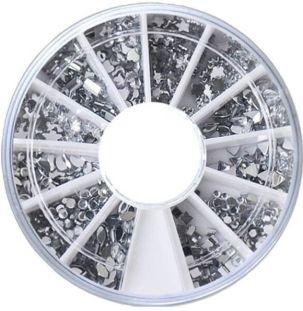 rhinestone clear wheel