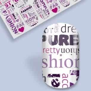 Fashion style beauté nail wrap
