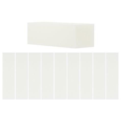 10 Blocs blancs polissoir, manucure et faux ongles, gel UV, résine