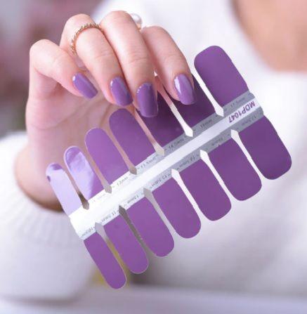 vernis violet autocollant