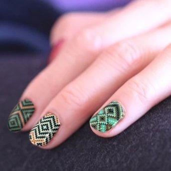 nail wrap Création peinture rebelle