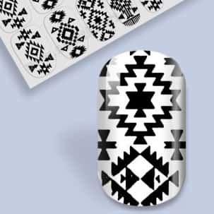nail wrap Criss-cross crazy