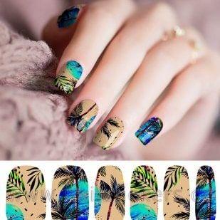Wrap fleurs tropicales colorées