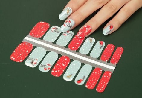 nail wrap noel traditionnel