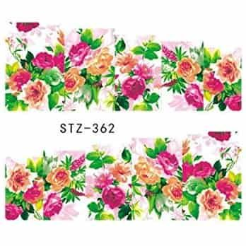 water decal fleurettes