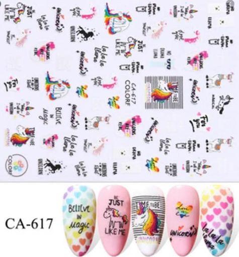 licorne sticker ongles