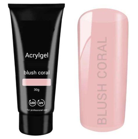 polygel nail blush coral