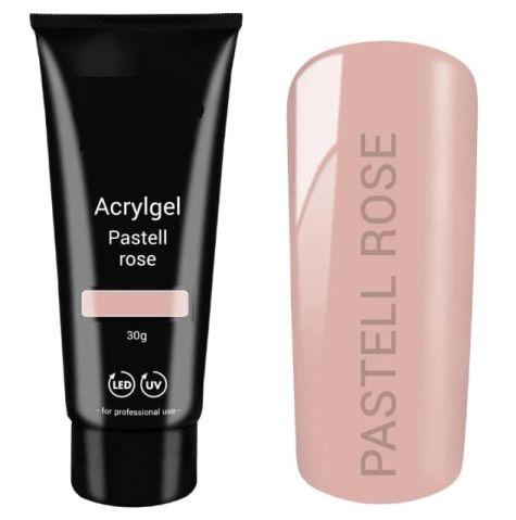 polygel pastel rose