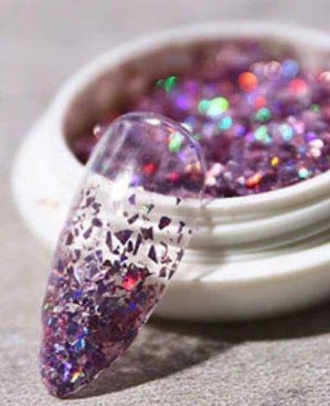 Laser star fragment violet