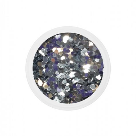 Chuncky glitter silver