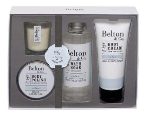 coffret de bain et corps Relax de Belton & Co