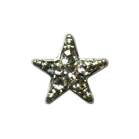 étoile argentée avec strass