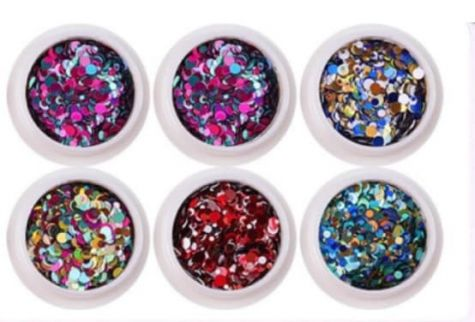 lot nail art bubbles