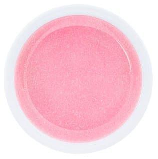 gel rose pailletté Glitter bubble gum