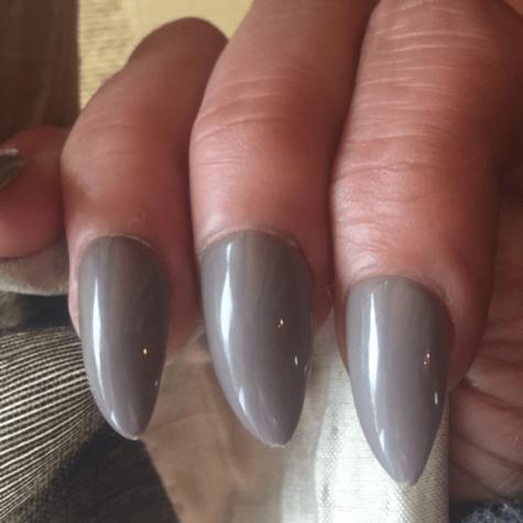 FAUX ONGLES STILETTO Cashmere  gris brun