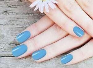 vernis bleu ciel autocollant
