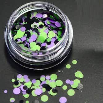 confetti vert violet noir