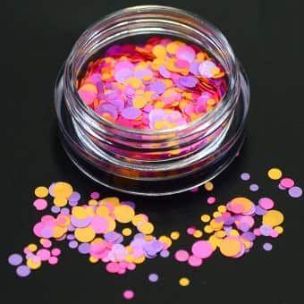 Confetti rose et orange fluo