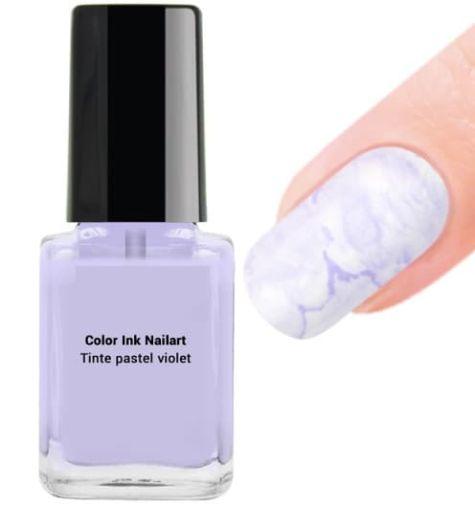 encre nail art pastel violet