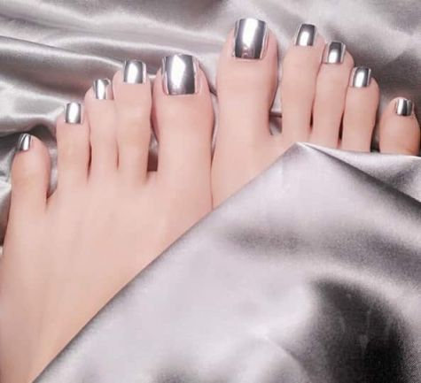 faux-ongles argent
