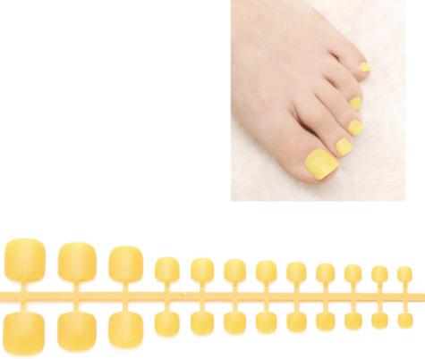 Faux ongles aune pour les pieds