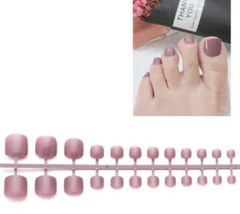 faux ongles bois de rose