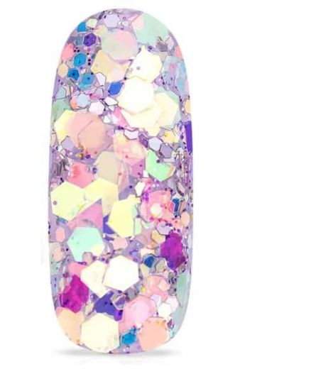 flakes mauve nail art