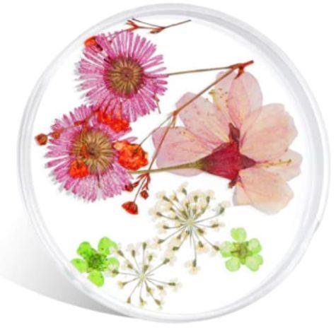 Fleurs nail art séchées