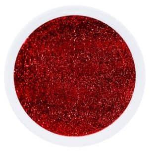gel rouge pailletté