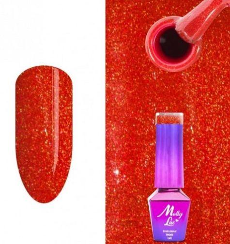 vernis semi permanent pailletté rouge